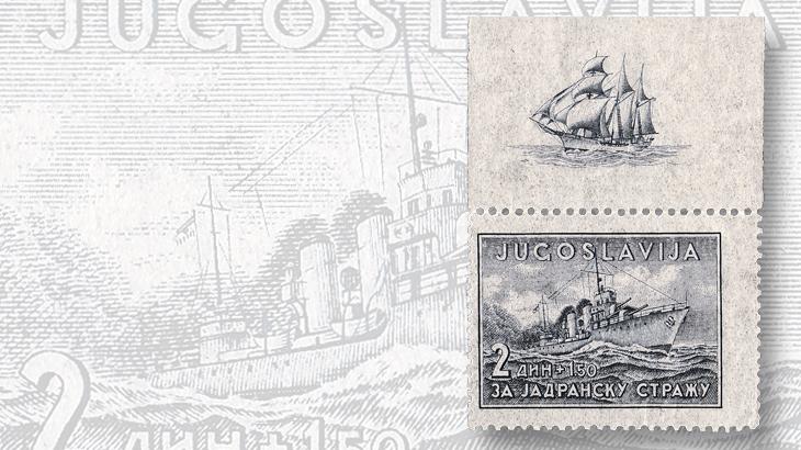 stamps-eastern-europe-yugoslavia-semipostal-cruiser-dubrovnik