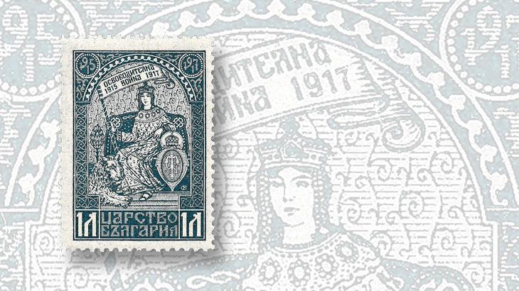 stamps-of-eastern-europe-serbia-croatia-bulgaria-allegory-of-macedonia