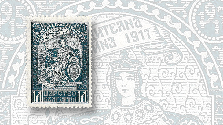 stamps-of-eastern-europe-serbia-croatia-bulgaria-allegory-of-macedonia