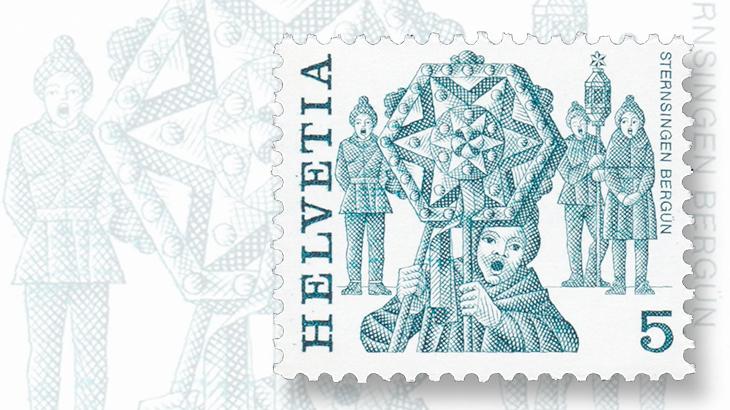 sternsingen-star-singing-1977-5-centime-folk-customs-stamp