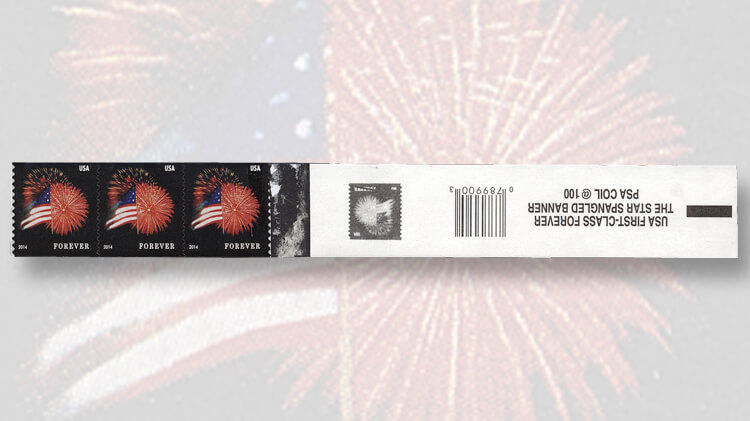 strip-of-counterfeit-flag-and-fireworks-coil-stamps