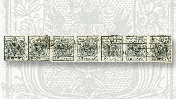strip-seven-ten-centesimo-stamps