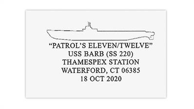 submarine-uss-barb-waterford-connecticut-pictorial-postmark