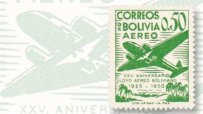 subtle-variety-1950-bolivia-airmail-set