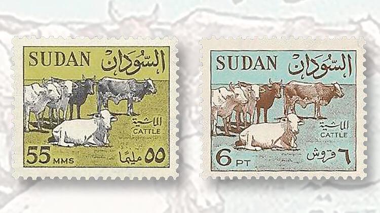 sudan-1962-55m-6p-stamps
