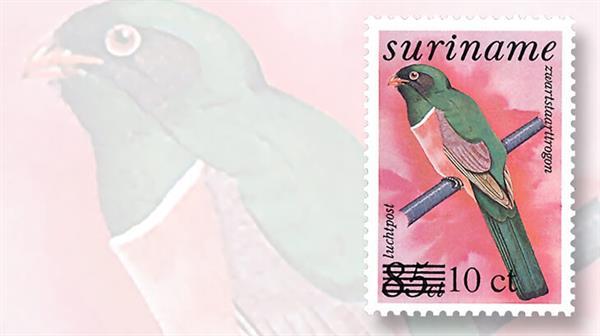 surinam-set-three-overprinted-bird-airmail-stamps