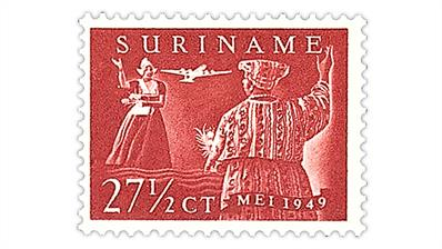 suriname-1949-women-netherlands-surinam-airmail-stamp