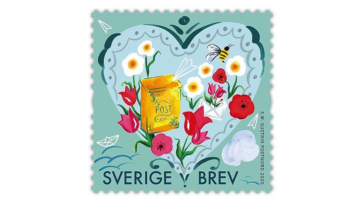sweden-2020-heartfelt-greetings-booklet-stamp