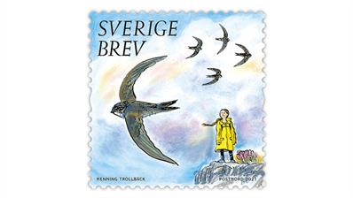 sweden-2021-precious-nature-greta-thunberg-stamp