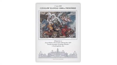 sweden-czeslaw-slania-1000th-stamp-souvenir-sheet