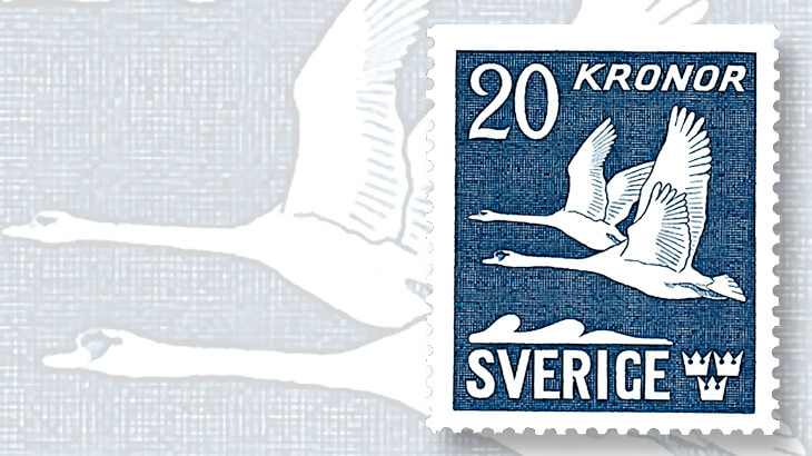 sweden-twenty-krona-ultramarine-stamp