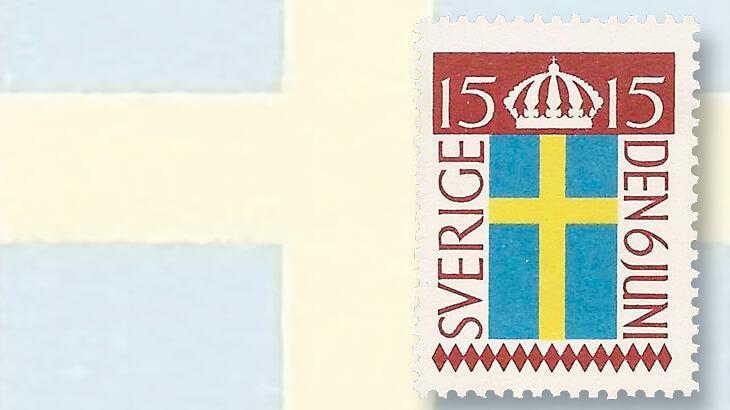 swedish-flag-day-stamp