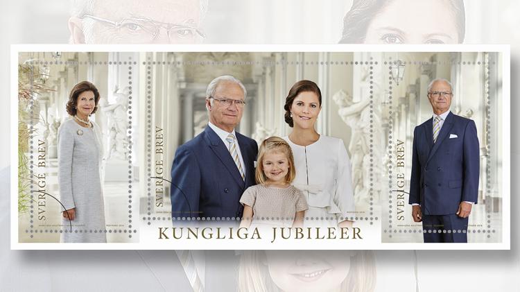 swedish-royalty-souvenir-sheet-king-carl-gustaf-queen-silvia