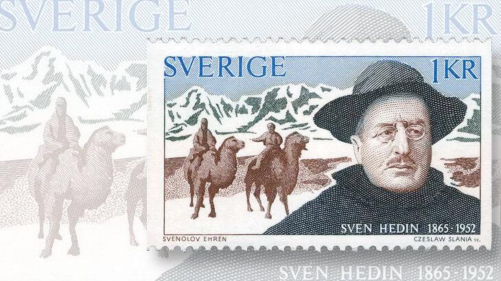 swedish-sven-hedin-stamp