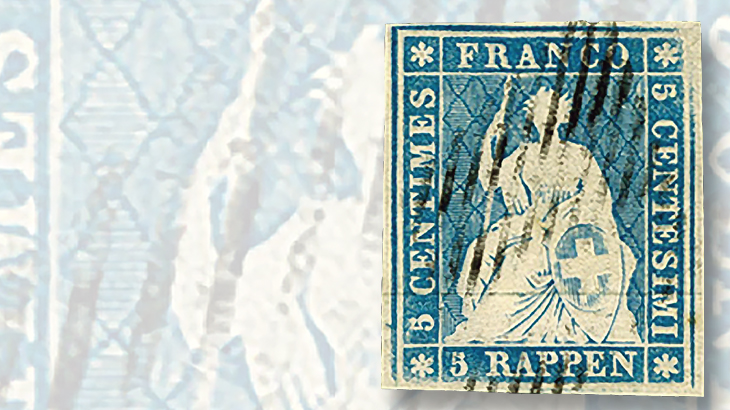 swiss-1854-5-rappen-stamp