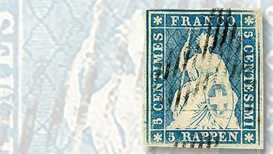 swiss-1854-5-rappen-stamp