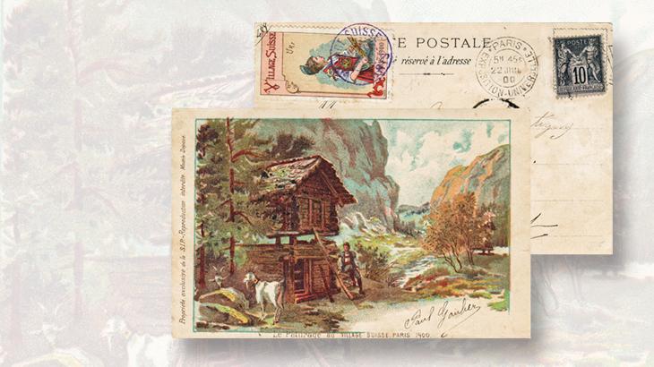 swiss-village-postcard