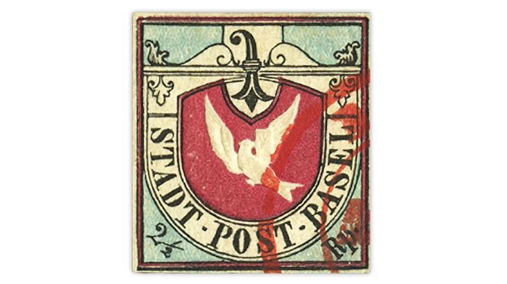 switzerland-1845-basel-dove-stamp