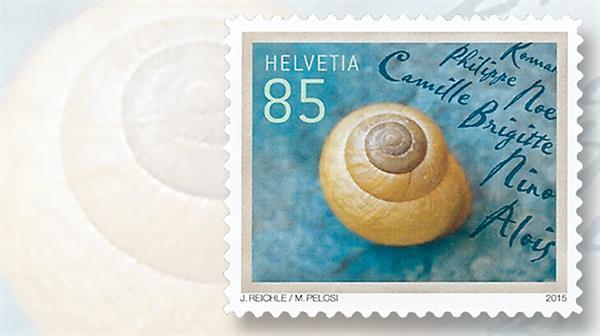 switzerland-2015-greetings-snail-stamp