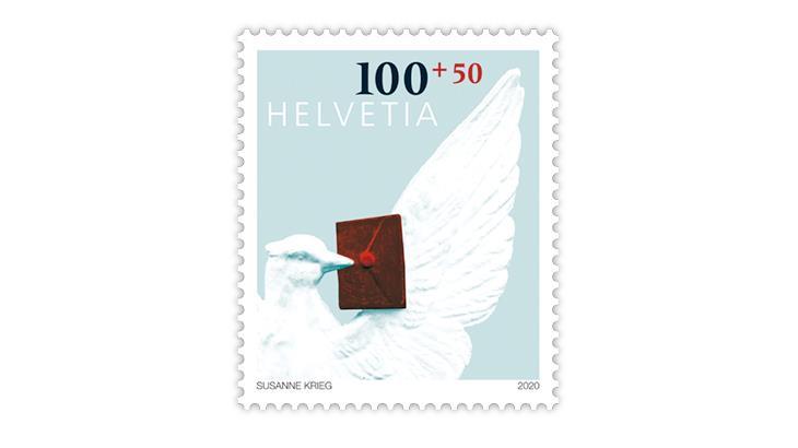 switzerland-2020-stamp-day-basel-dove-semipostal-stamp