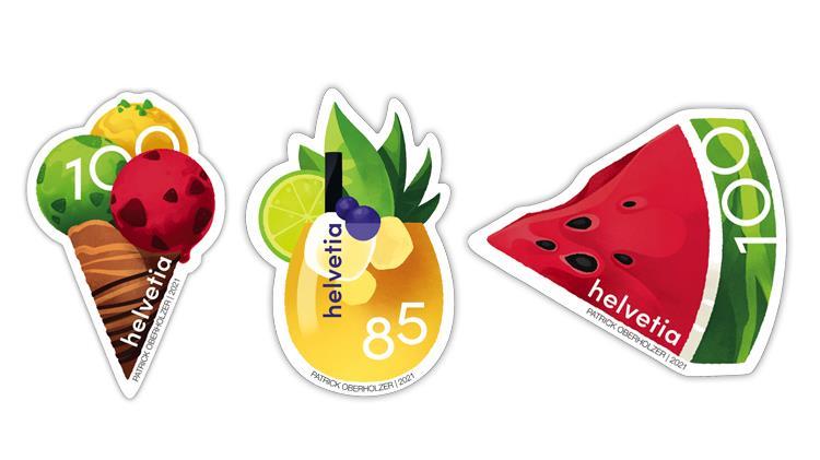 switzerland-2021-fruit-drink-ice-cream-watermelon-stamps