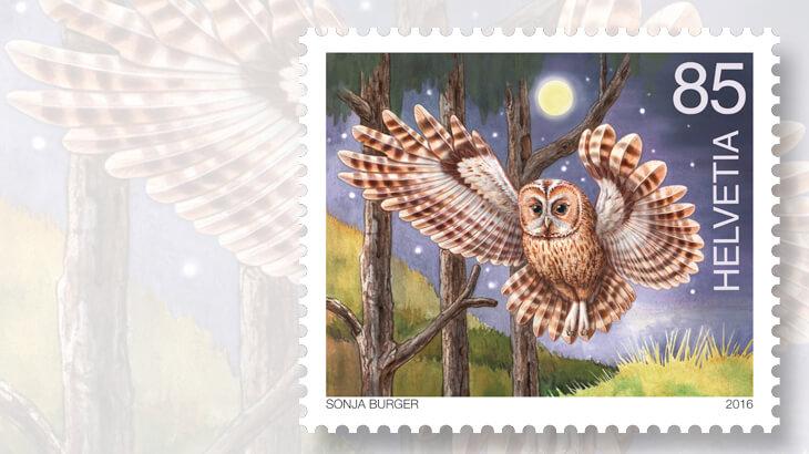 switzerland-nocturnal-animals-owl-stamp