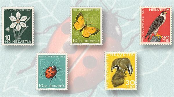 switzerland-pro-juventute-stamp-issues