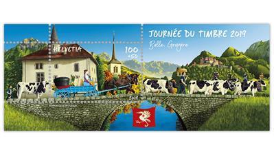 switzerland-stamp-day-cattle-souvenir-sheet