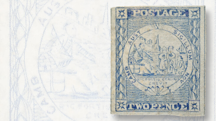 sydney-views-two-penny-stamp-from-plate-five