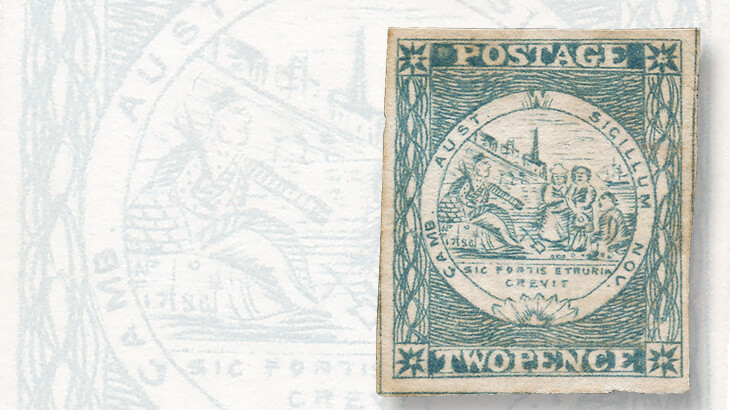 sydney-views-two-penny-stamps-plate-two