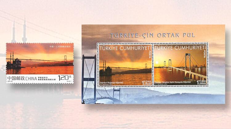 taizhou-bosporus-bridges-china-stamp
