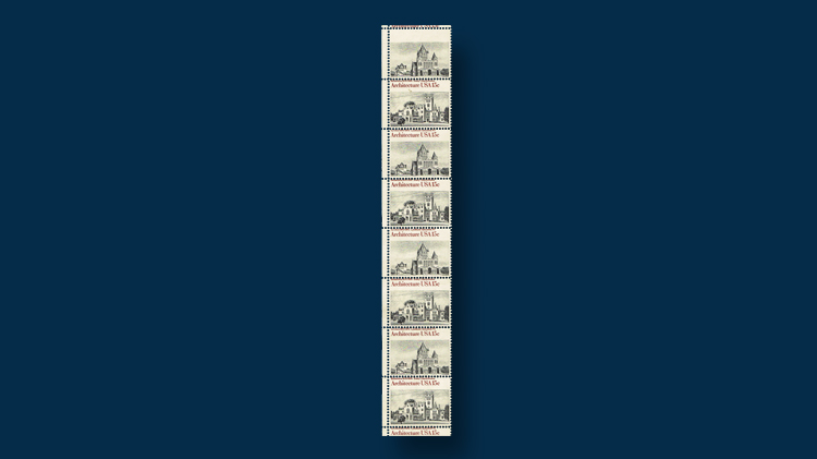 ten-1980-fifteen-cent-american-architecture-stamps