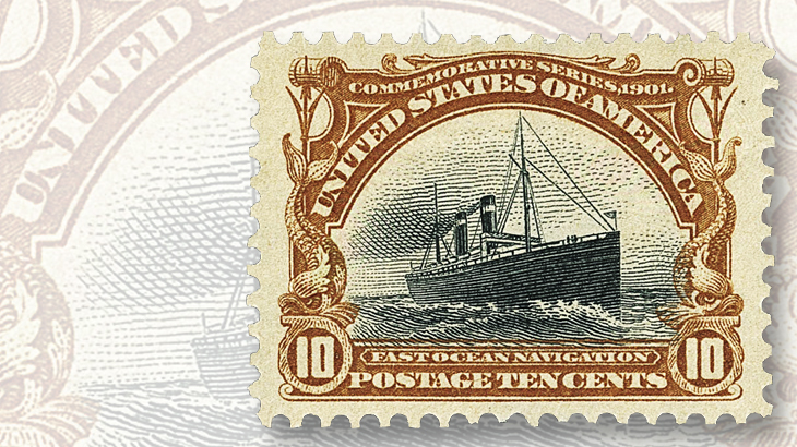 ten-cent-stamp-from-pan-american-expo-series