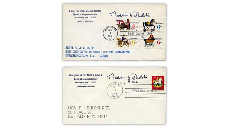 thaddeus-dulski-christmas-stamp-first-day-covers