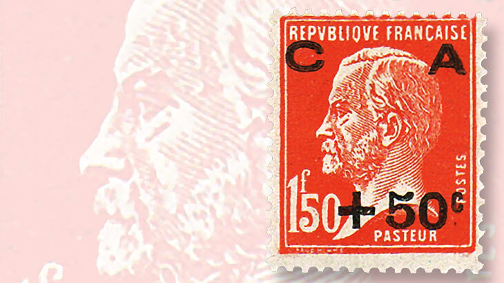 third-sinking-fund-stamp-pasteur-design-france