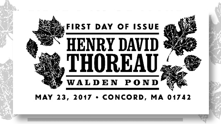 thoreau-black-first-day-cancel-stamp