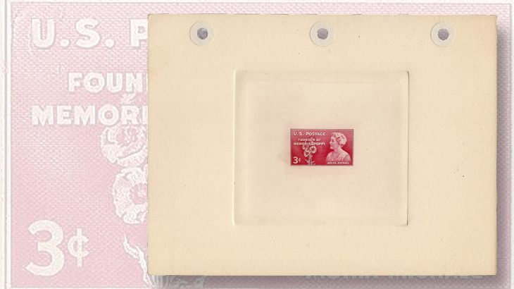 three-cent-rose-pink-moina-michael-large-die-proof