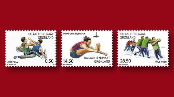 three-sports-greenland-stamps