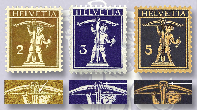 three-types-of-swiss-tell-boy-stamps