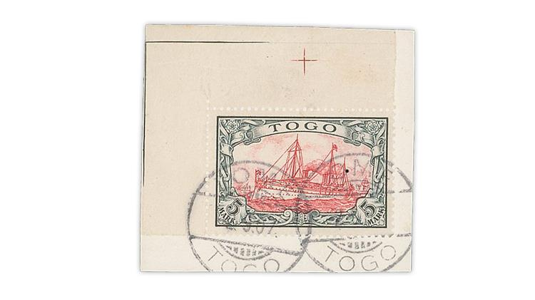 togo-1900-5-mark-yacht-hohenzollern-stamp