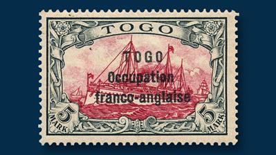togo-1915-5-mark-slate-stamp