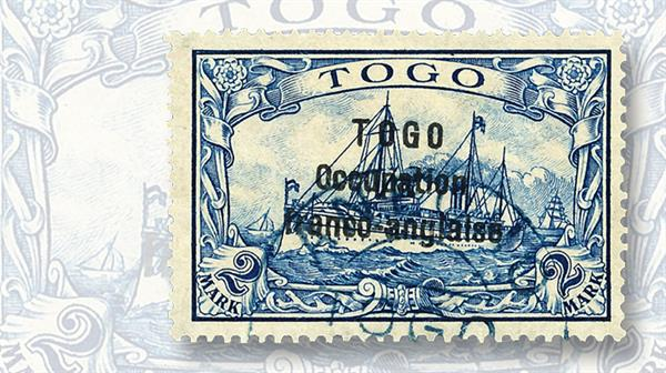 togo-two-mark-stamp-1915-overprinted-set