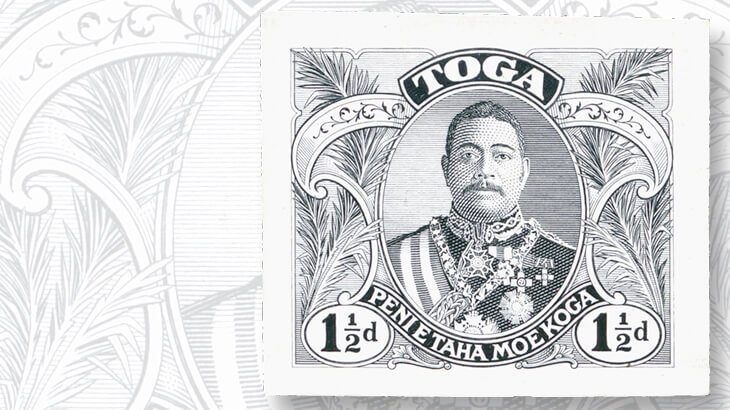 tonga-1911-letter-card-die-proof
