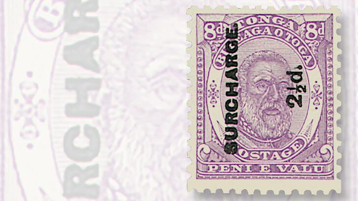 tonga-king-george-tupou-era-stamp