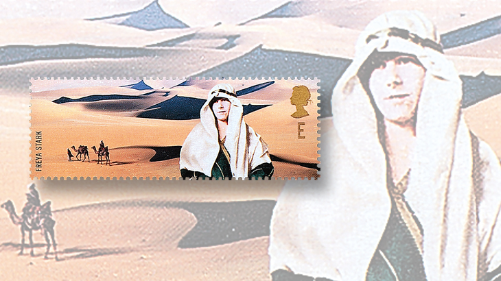 topics-on-stamps-camels-great-britain-freya-stark-explorer-writer