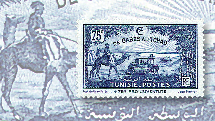 topics-on-stamps-camels-tunisia-tunis-chad-motor-caravan