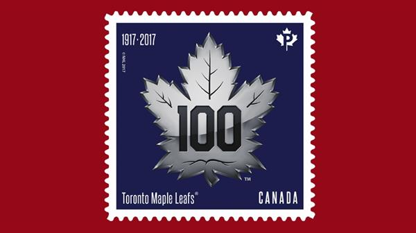 toronto-maple-leafs-logo-silver-self-adhesive-booklet-stamp