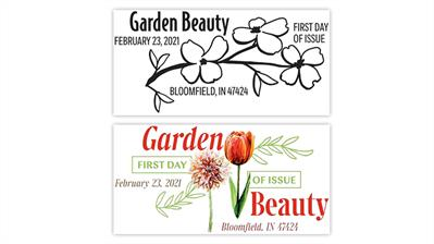 town-names-garden-beauty-stamps-first-day-cancels