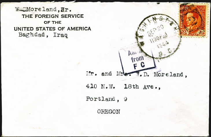 transatlantic-diplomatic-pouch-cover-iraq-washington-oregon-1944