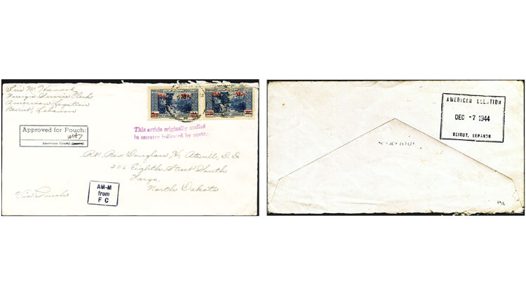 transatlantic-diplomatic-pouch-cover-lebanon-washington-north-dakota-1944